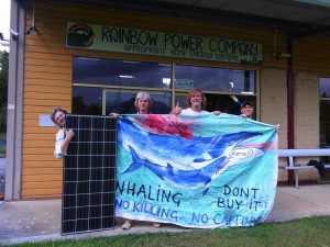 Rainbow power co donates 3 solar panels to the migaloo 2 anti whaling campaign