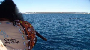 Aboriginal Smoking ceremony for Whales and Dolphins